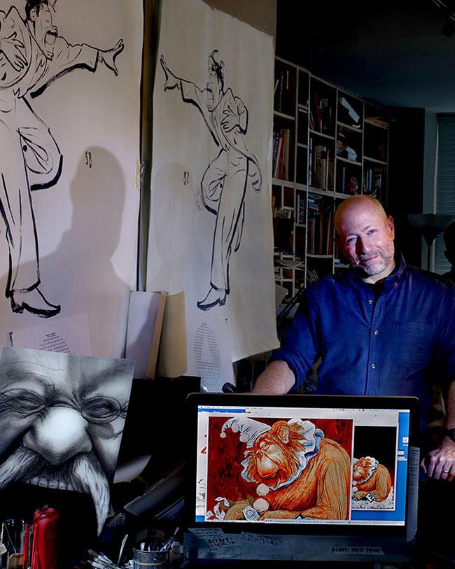 Steven Brodner, caricaturist, illustrator, activist.