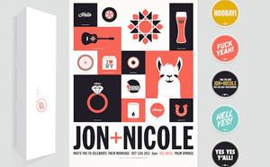 Wedding Invitation Design by Jon Jackson