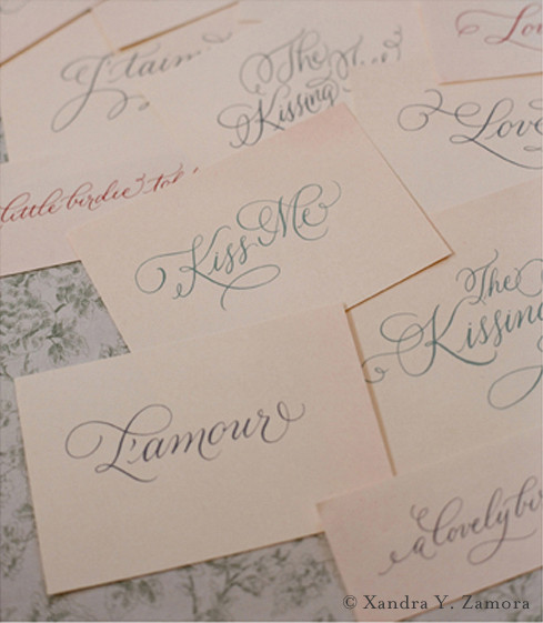 Xandra Zamora Brush Lettering