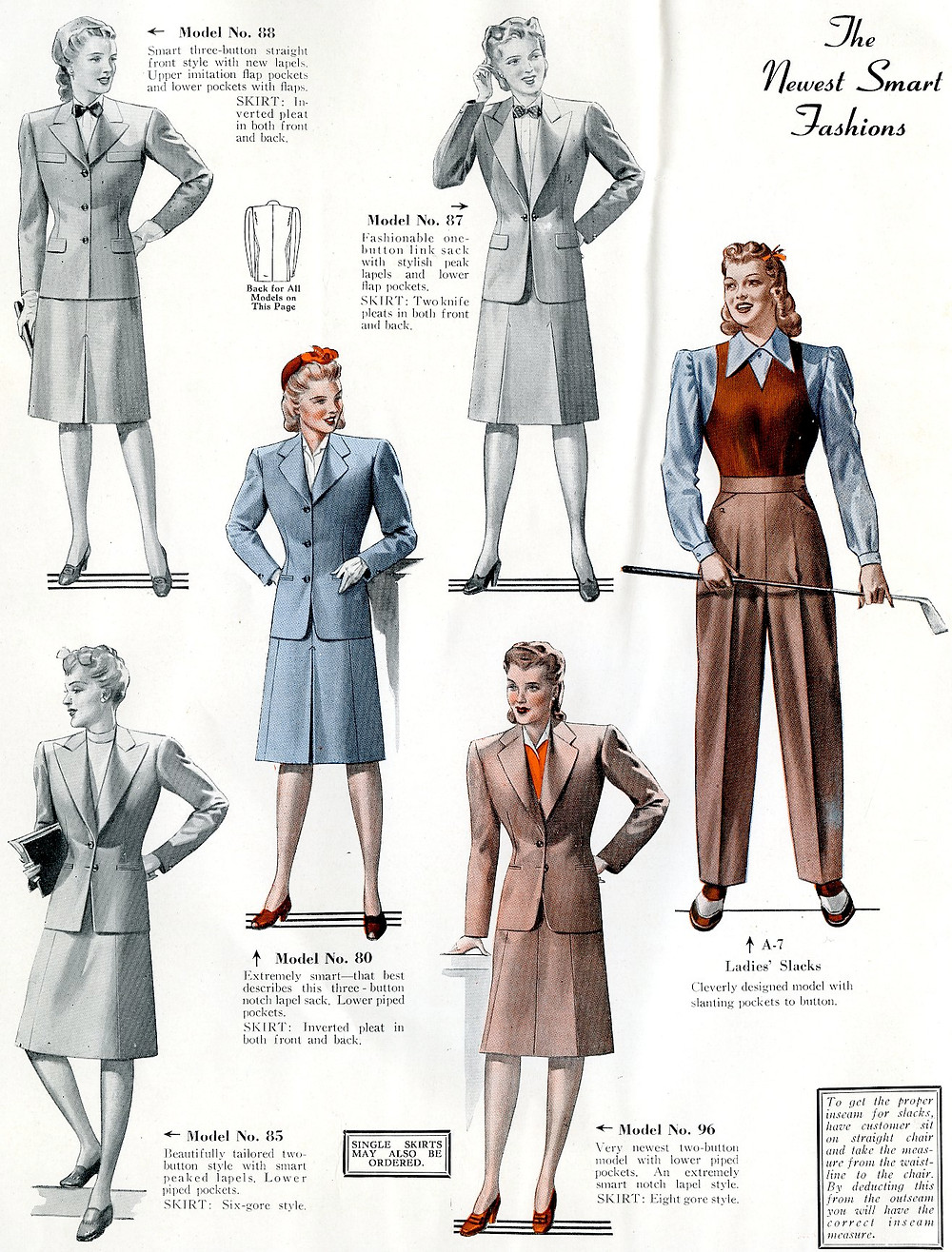 1940s fashion suits for women