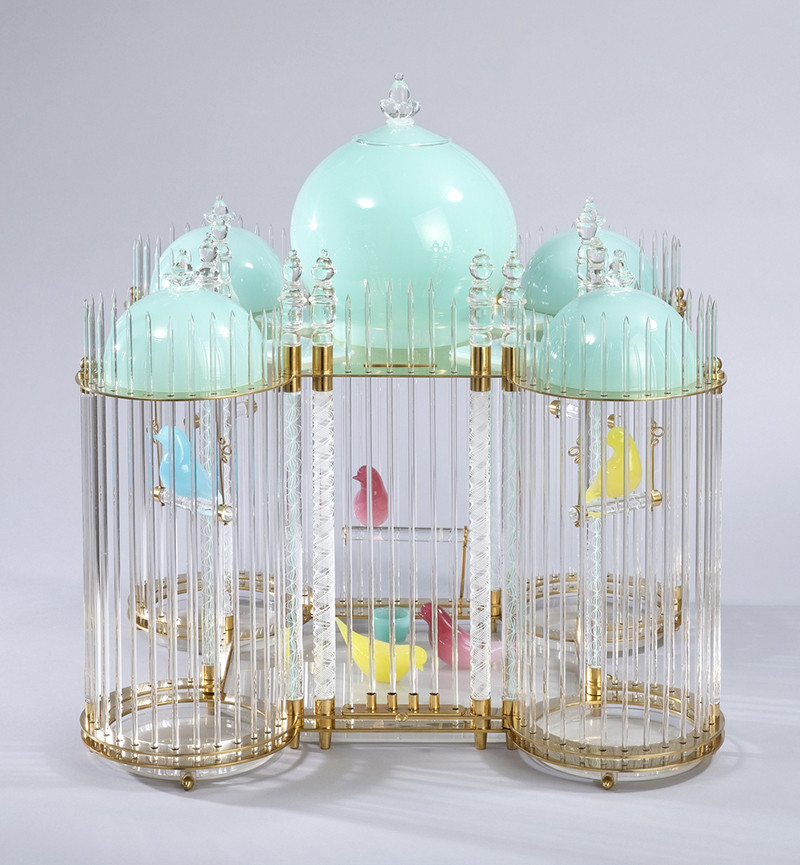glass birdcage