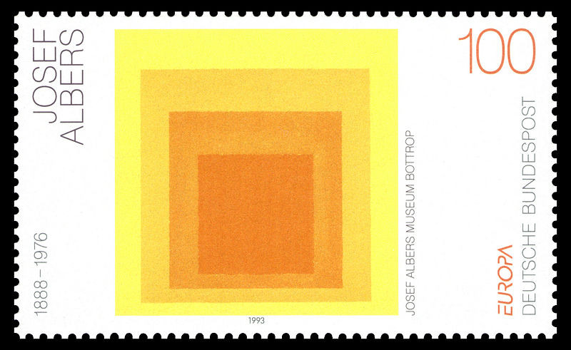 German stamp of Josef Albers' work, via Wikimedia Commons: http://bit.ly/1n09uXN