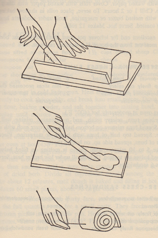 How to Roll Tea Sandwiches by Andrew Warhol