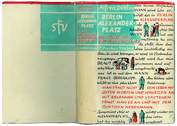 Alfred Döblin. Berlin Alexanderplatz. Die Geschichte vom Franz Biberkopf. Print run: 41–45,000. Berlin: S. Fischer, 1931. Cover by Georg Salter.