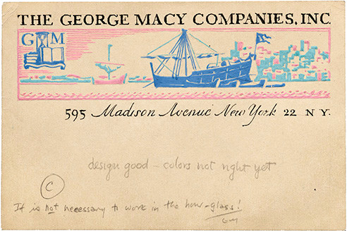 17. Dwiggins Macy label study LfA