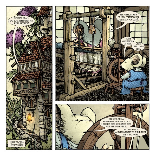 Page from Mouse Guard story Service to Seyan.