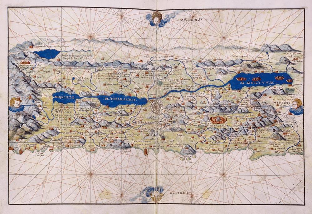 Land Map of Palestine, a Venetian map c. 1550