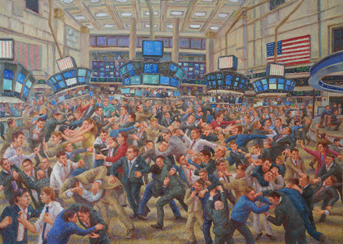 Stock-Exchange.-2015-Oil-on-Linen