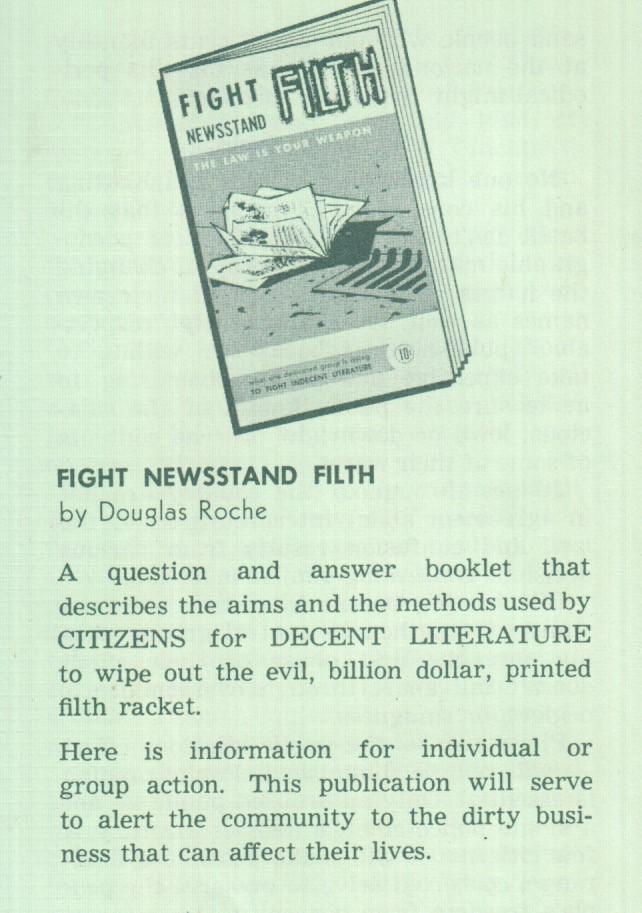 Fight filth newsstand