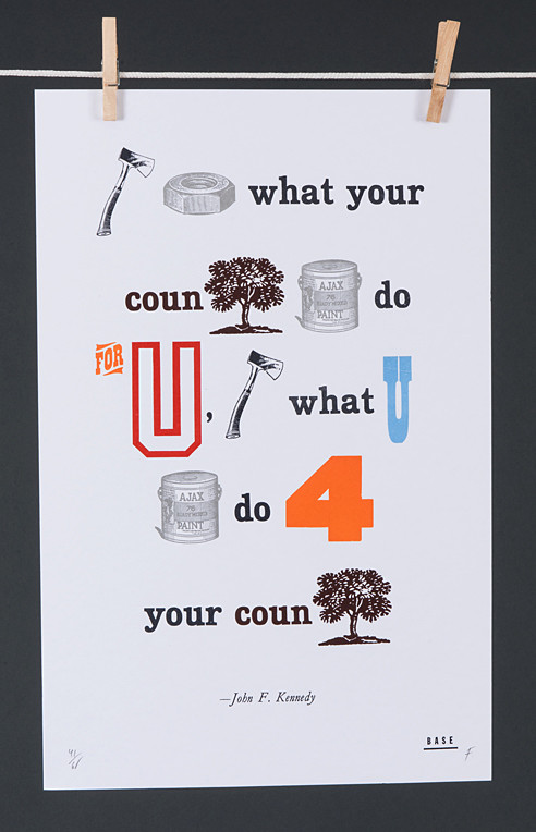 Frank Baseman, series of letterpress posters