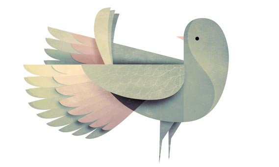 Pearlfisher tapped artist Andrew Lyons to create attractive illustrations like this dove to reinvent Strong supplement packaging