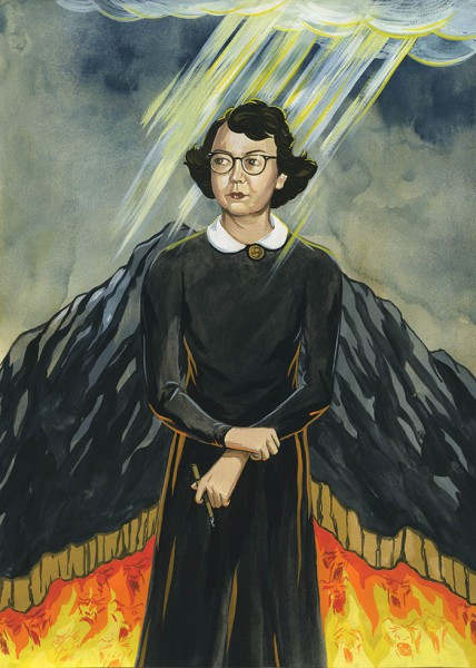 Flannery O'Connor illustration for the Atlantic