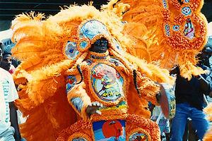Tribal Design Mardi Gras Style