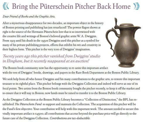 Bring the Puterschin Pitcher back home