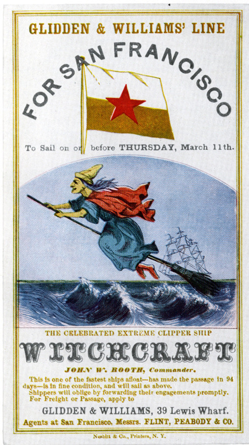 Clipper Ship Sailing Card
