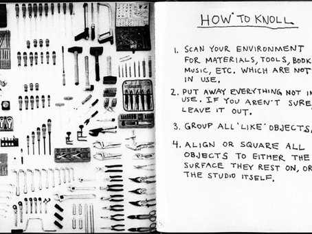 """Always Be """"Knolling""""—My New Favorite Word, Inspired by Tom Sachs"""