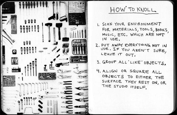 Tom Sachs | Always be Knolling