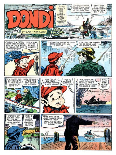Dondi by Gus Edson and Irwin Hasen, April 15, 1962.