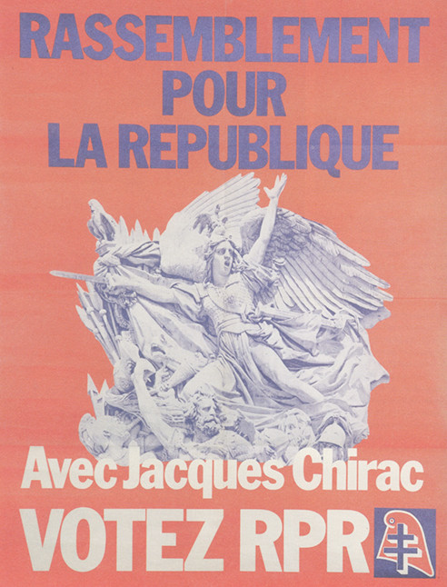 Rassemblement pour la République (RPR) founded by Jacques Chirac in 1976.