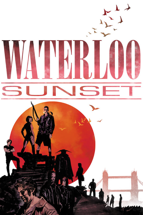 """Waterloo Sunset"" comic book cover, Trevor Goring"