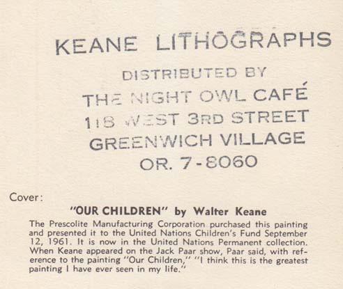 Keane Lithographs