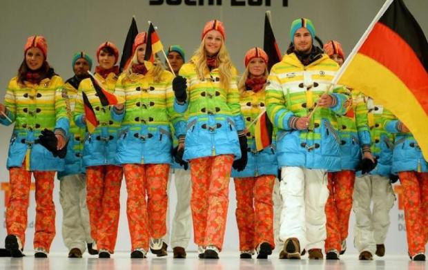 http://ftw.usatoday.com/2013/10/german-olympians-will-wear-rainbow-colored-uniforms-in-sochi/