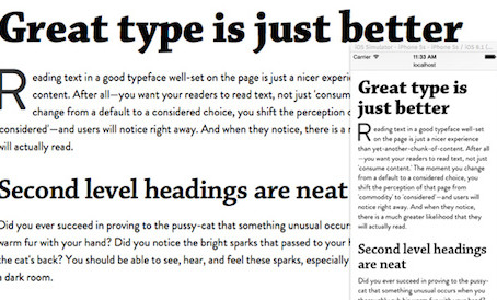 Good Typographic Design for the Web