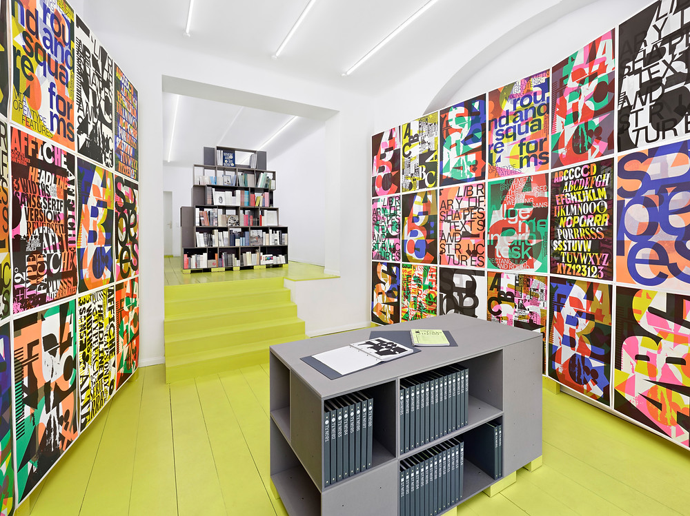 Experimental graphic design, including type, has a home at A–Z in Berlin.
