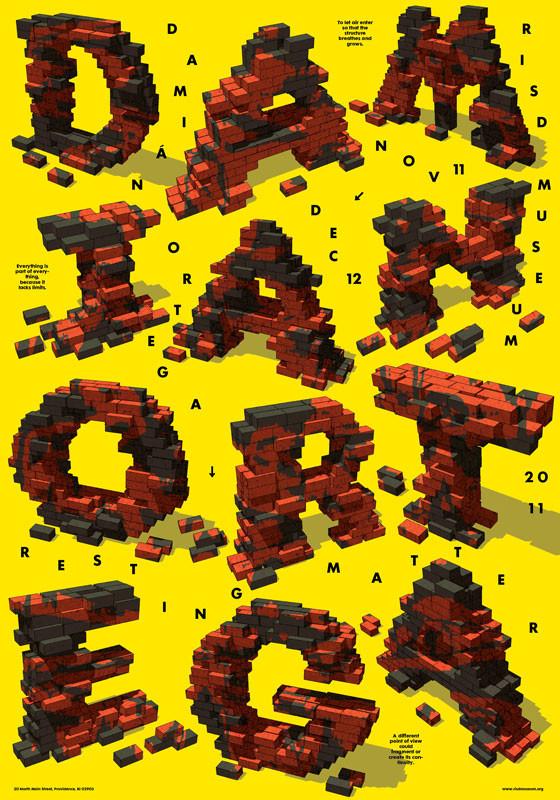Damien Ortega poster, color inkjet print, 2011