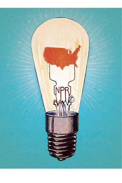 An illustration for NPR's 2014 wall calendar.