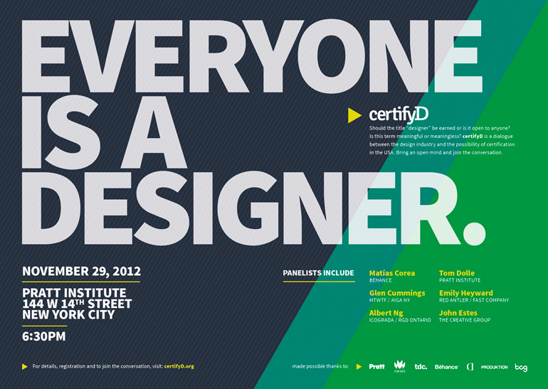 A poster announcing the CertifyD event