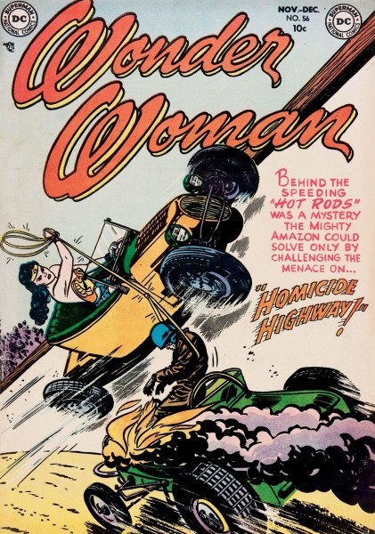 Wonder Woman #52, pencils by Irwin Hasen, inks by Bernard Sachs, Nov./Dec. 1952