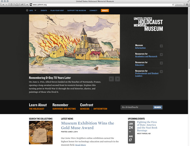 ushmm-home_628, website redesign