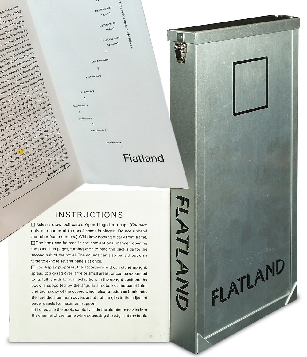 Flatland. Image courtesy Swann Auction Galleries