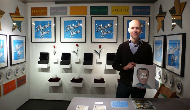 Joseph Carroll displays Joe Zane's ersatz Phaidon monograph