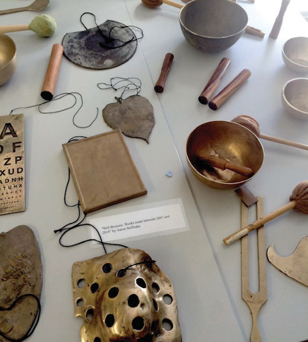 Aaron McPeake's work on display at the Blind Creations Conference. Photo by Vanessa Warne.