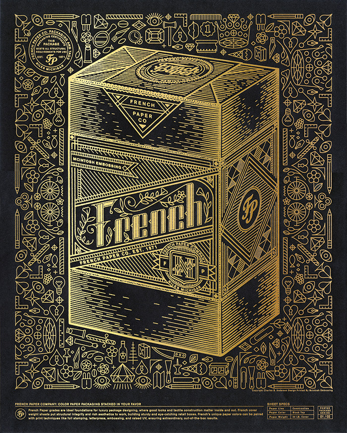 French Foil Packaging Posters