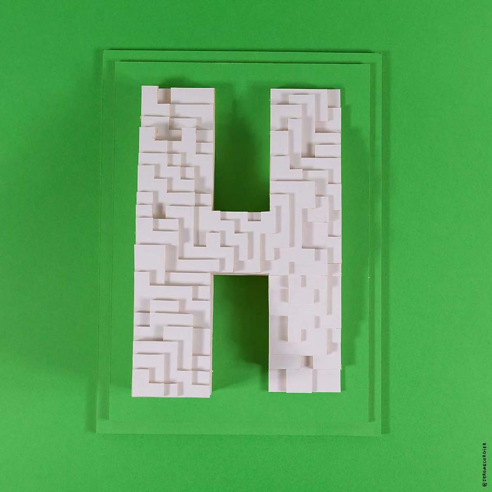 """Jerome Corgier """"ArchiLetters"""" - H"""