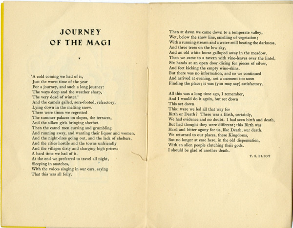 Journey of the Magi Spread