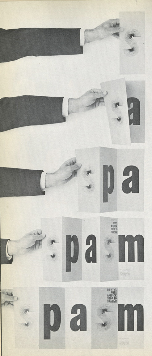 Herb Lubalin's most typographically iconic ad campaigns, for Bentyl
