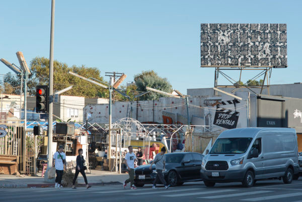 Artist Rashid Johnson's work in Los Angeles, California. Courtesy Cultural Counsel.