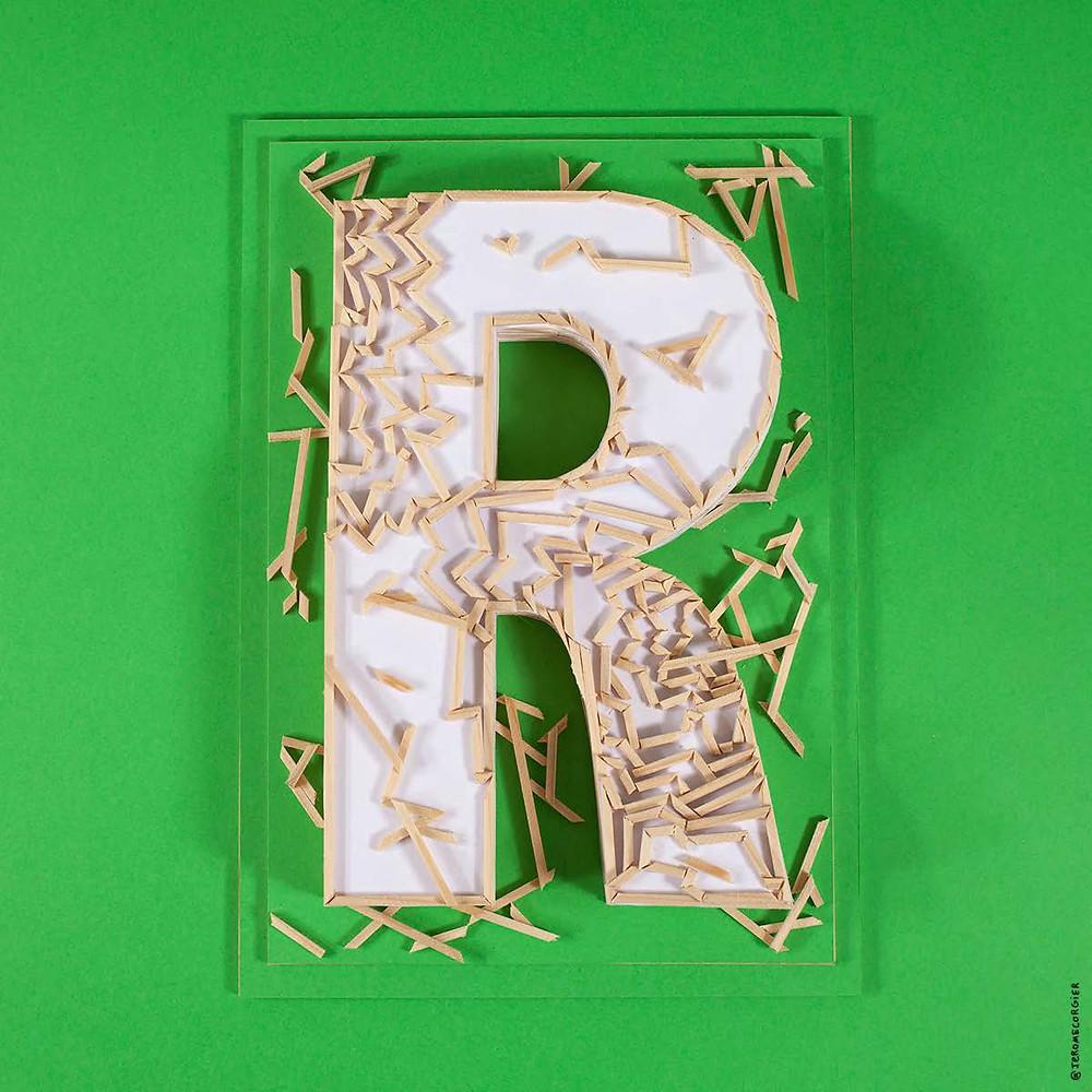 """Jerome Corgier """"ArchiLetters"""" - R"""
