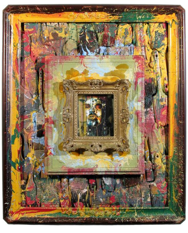 """Esteban Bojorquez: """"Portrait of Dr. Fez,"""" assemblage, 1984."""