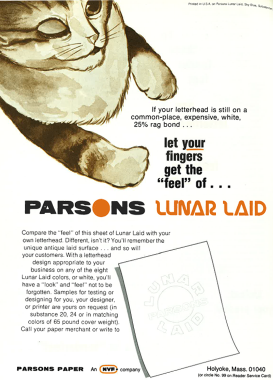 "let your fingers get the ""feel"" of parsons lunar laid"