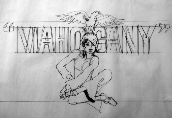 Record's sketches for Mahogany, starring Diana Ross, 1975