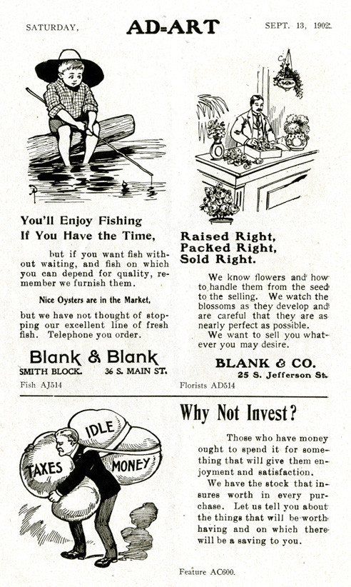 Turn-of-the-century ads from Ad-Art's magazine archives