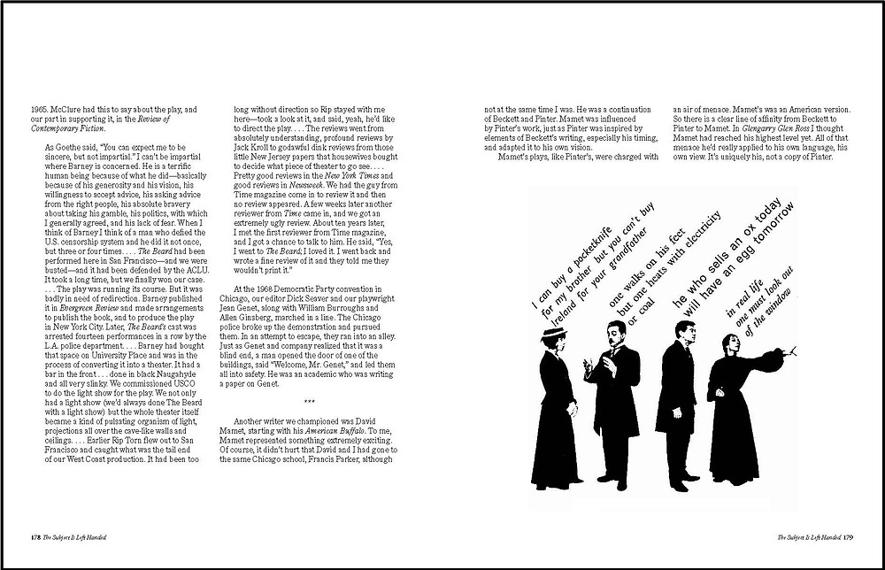 "Spread featuring Robert Massin's ""The Bald Soprano"" by Eugène Ionesco"