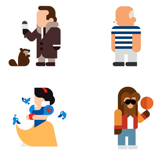 Minimalist pop culture icons: Design studio Hey create these instantly recognizable illustrations of pop culture icons on their Instagram account EveryHey.