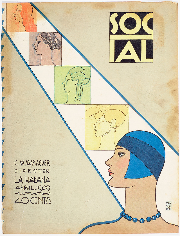 Magazine cover, Social, April 1929