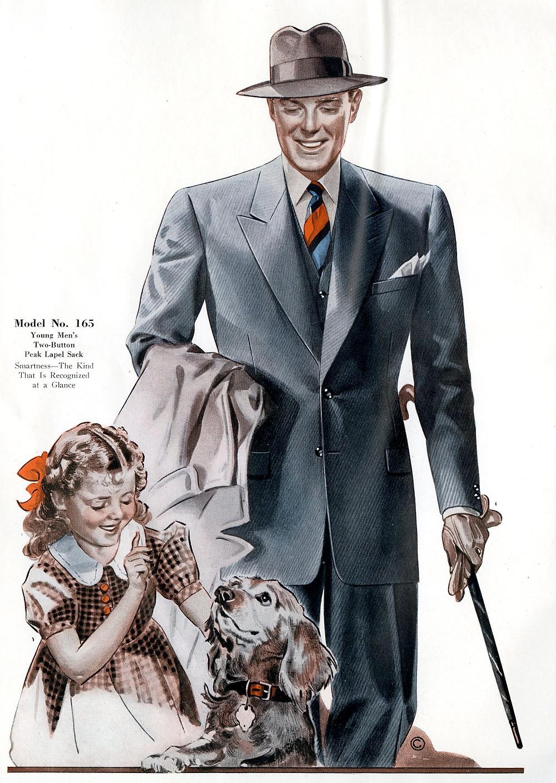 1940s fashion suit